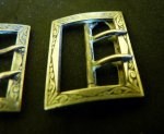 1 antique shoe buckles 1890