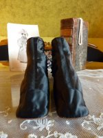 5 antique romantic period boots 1930