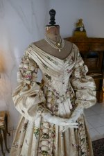 3 antique court dress 1838
