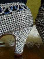 22 antique rhinestone shoes 1920