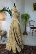 42 antique evening gown Duval Eagan 1889