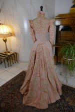 34 antique Rousset Paris society dress 1899