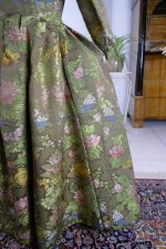 19 antique childs court dress 1760