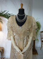 3 antique evening gown Worth 1910