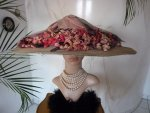 antique hat, antique summer hat, summer hat 1910, hat 1910, antique dress, antique gown, edwardian hat, chapeau ancien, edwardianischer Hut, antikes Kleid, Mode um 1910, Kostüm 1910, Kleidung 1910, antieke hoeden, шляпе 1910, шляпе 1900
