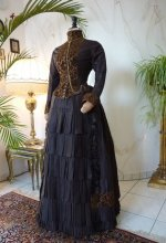 6 antique bustle gown