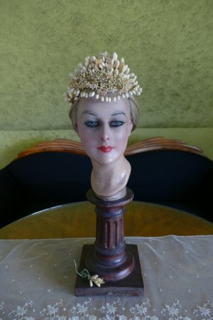 antique wax crown 1880