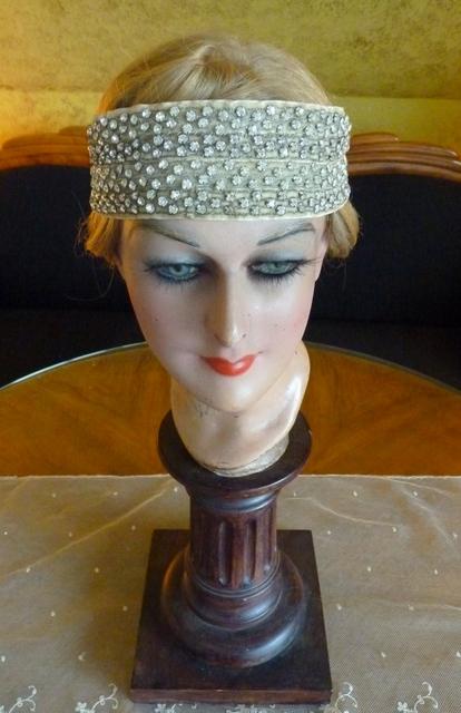 rhinestone bandeau headdress 1920s. Black Bedroom Furniture Sets. Home Design Ideas
