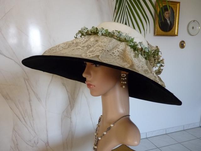 Gigantischer Sommerhut, ca. 1909 - www.antique-gown.com