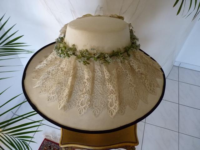 Gigantic summer hat, ca. 1909 - www.antique-gown.com