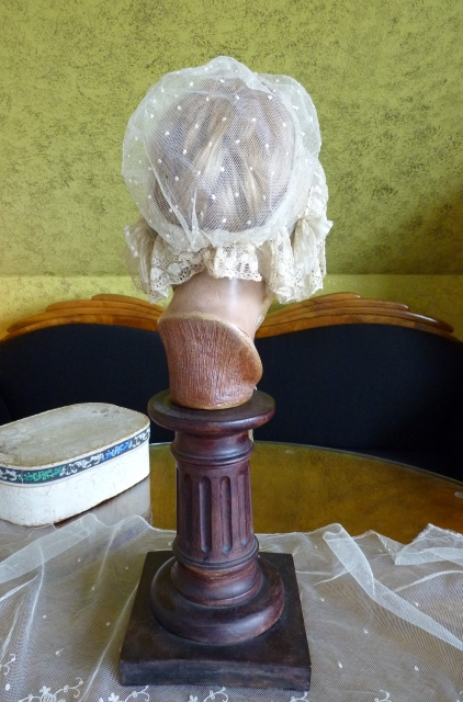 Early Victorian Lace Wedding Bonnet and Box, 1840s - www ...