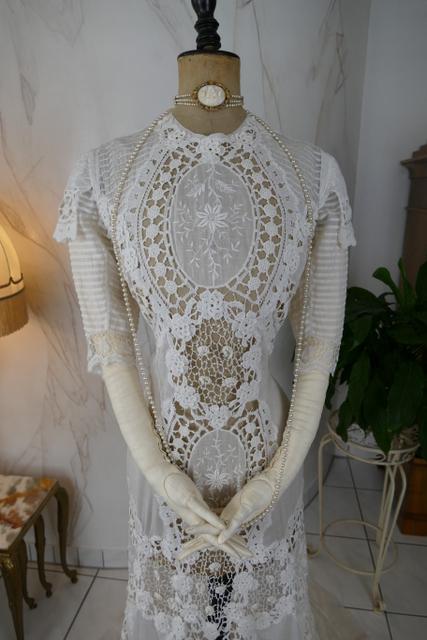 Irish Crochet Dress  Ca  1904