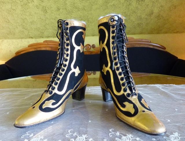 elegant evening boots marienbad ca 1910. Black Bedroom Furniture Sets. Home Design Ideas