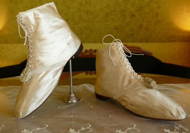 Regency Hochzeitsschuhe, ca. 1818 antique