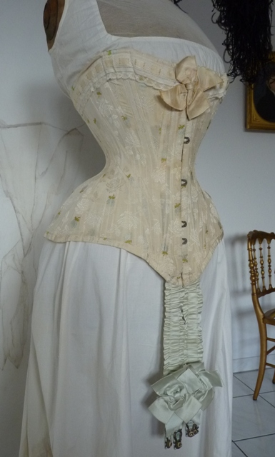 Embroidered Evening Corset Ca 1897 Www Antique Gown Com