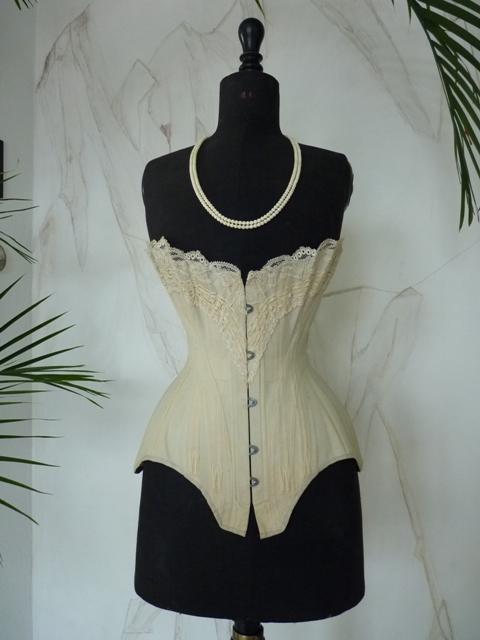 elegant victorian corset ca1895 wwwantiquegowncom