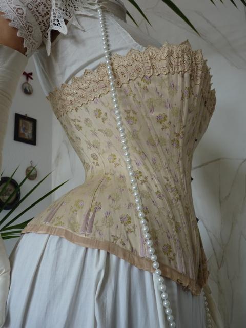 luxurious corset from vienna ca 1890 wwwantiquegowncom